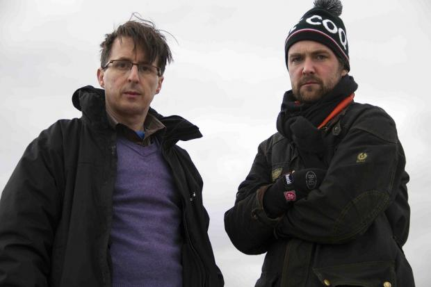Ilkley film writer and director Martin Radich (left) and producer Finlay Pretsell, who will be working on the thriller Norfolk