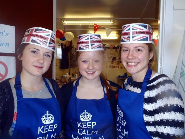 Pictured are (from the left) Chloe Smith, Bethany Smith and Emma Brown.