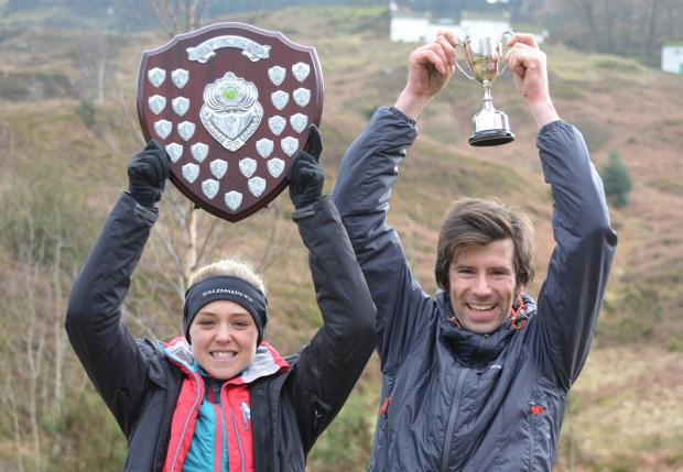 Winners Emma Clayton and Tom Adams Picture: Dave Woodhead