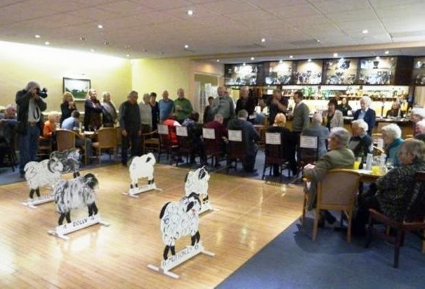 Aireborough Nomads attracted a full house to its first charity fundraising event, a sheep race night