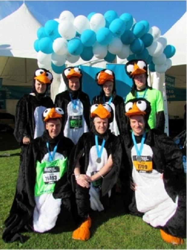 Members of Team Penguin, who will be running in Keighley's Big 10K on Sunday