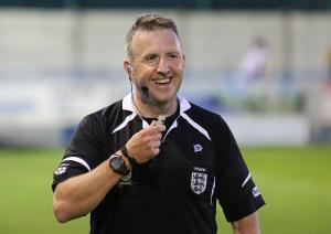Horsforth's Premier League referee Jon Moss has been in action at Nethermoor and Old Trafford.
