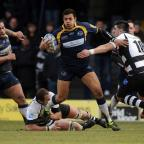 Luther Burrell, centre, will tour South America with England