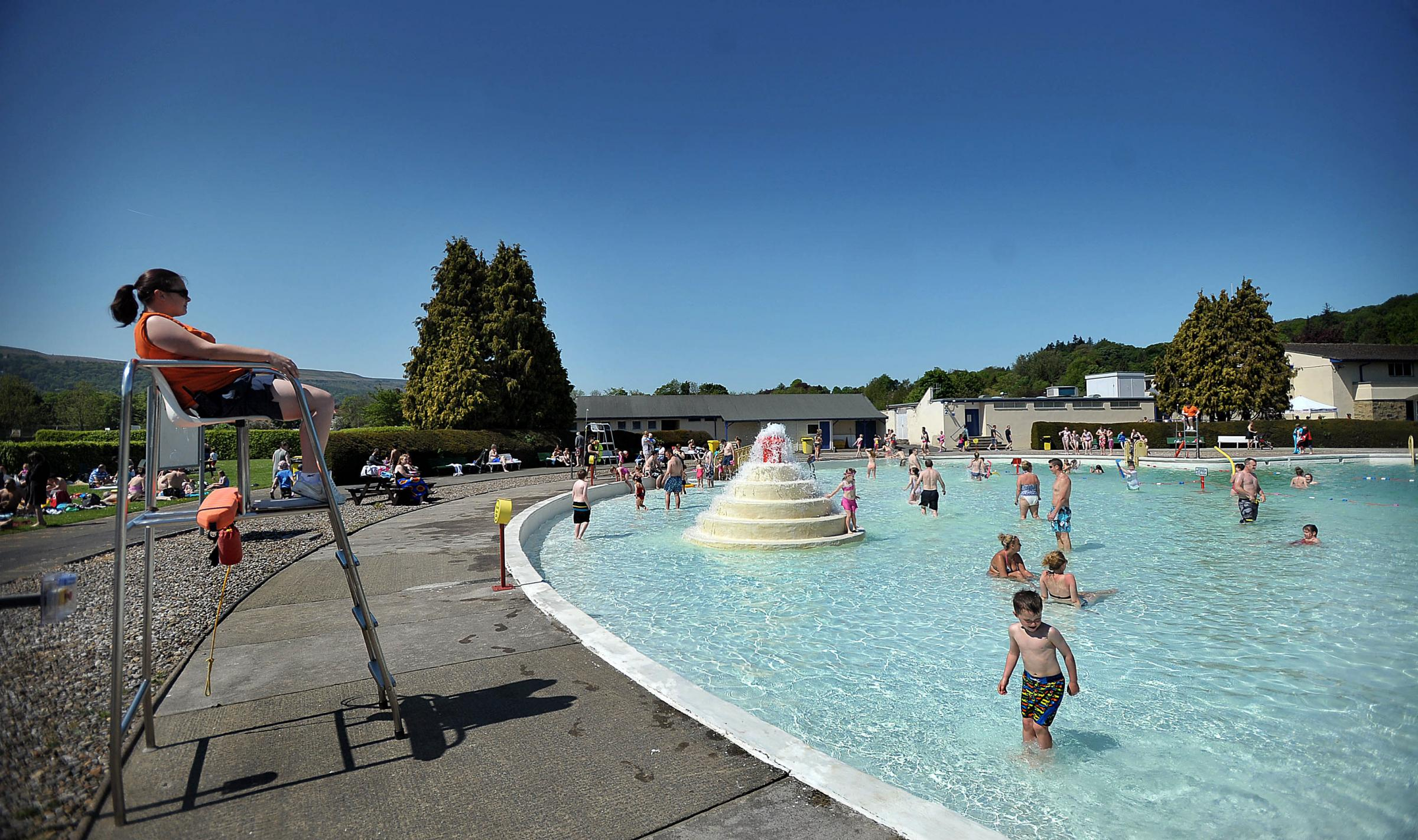 The pool at Ilkley Lido