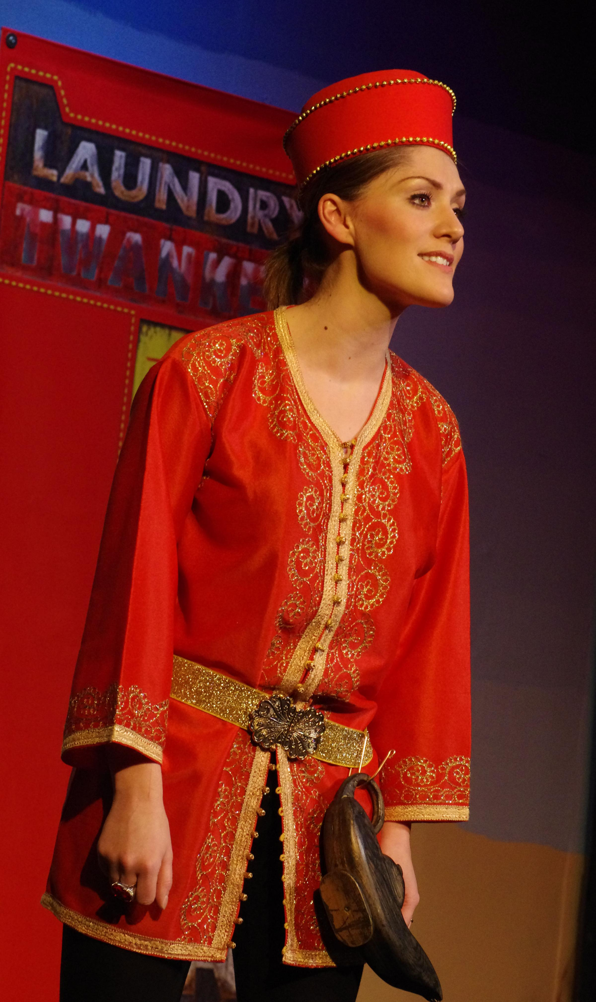Aladdin, played by Hannah Louise Long, who won Best Principal Boy in this year's Wharfedale Festival of Theatre awards