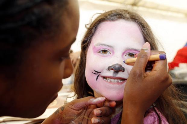 Children will be able to have their faces painted at a charity fun day at Otley Rugby Club