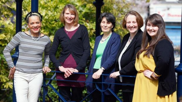 The 2013 organising team (from left) Dawn Cameron, Gail Price, Rachel Feldberg, Abbey Vale and Laura Beddows