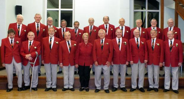 Some of the members of Steeton Male Voice Choir