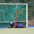 Wharfedale Observer: Cam Herbert saves a penalty flick Picture: Kisty McMillan