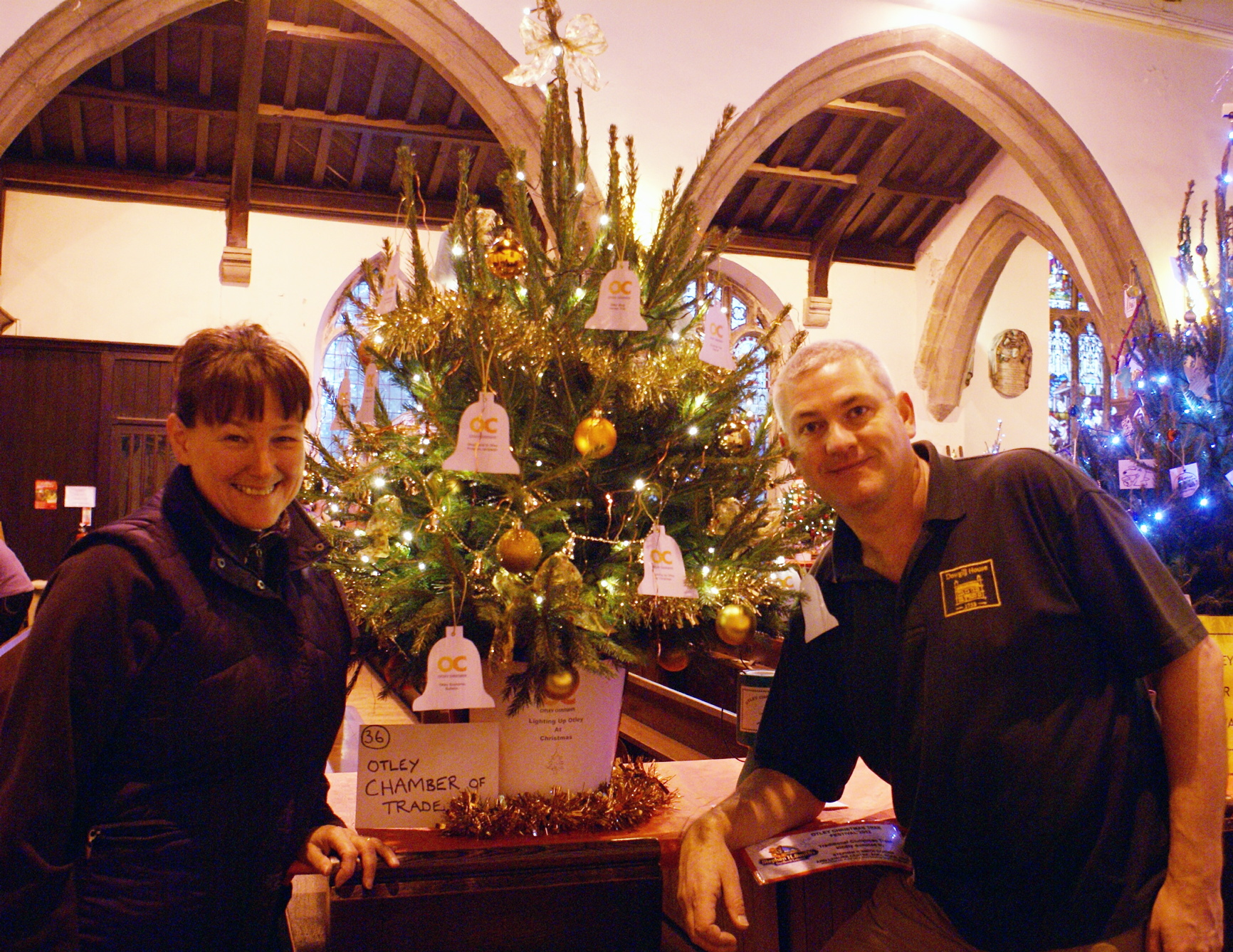 Helen and Tim Wilkinson are hoping lots of visitors will flock to the third Otley Christmas Tree Festival.
