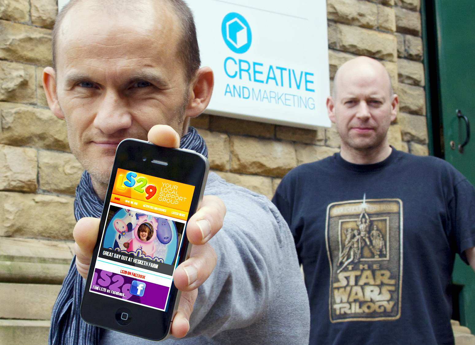 Daniel Belcher, left, and Richard Ware, founders of Creative and Marketing, who have teamed up with local community group LS29