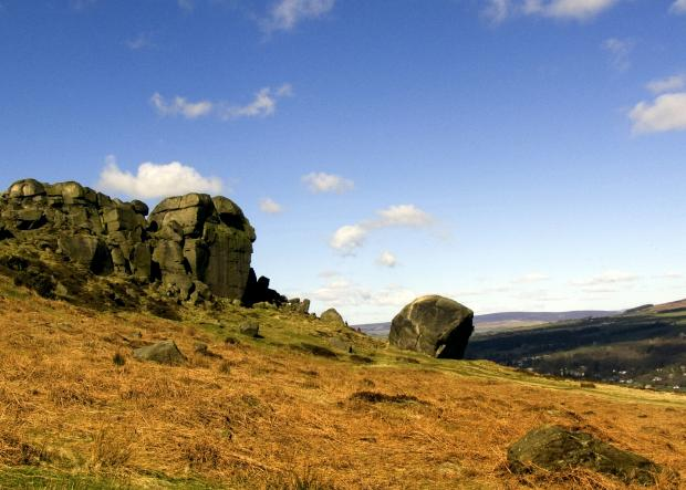 Wharfedale Observer: The Cow and Calf rocks at Ilkley. What's your favourite icon of Yorkshire?