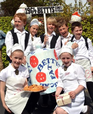 Pictured above are pupils from Ashlands Primary School in their Bettys-themed parade costumes at last year's Ilkley Carnvial