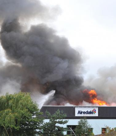 The fire that engulfed the Airedale Air Conditioning factory in October