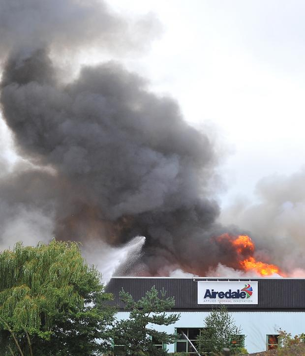 Wharfedale Observer: The fire that engulfed the Airedale Air Conditioning factory in October