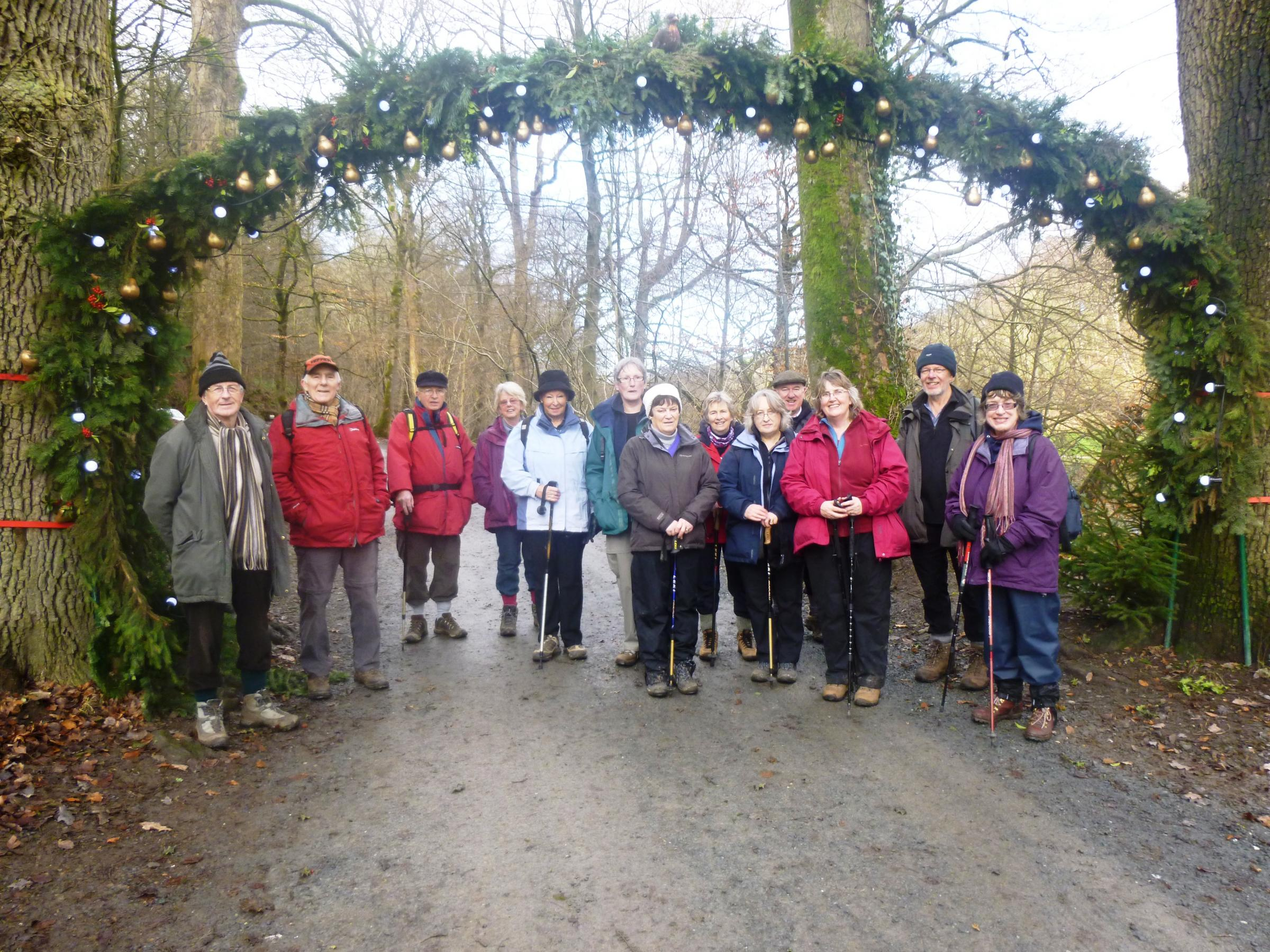 "Ilkley U3A ""walking to the pub for lunch"" group pictured at their walk at Bolton Abbey last week. Photograph by Sarah Berkoff"