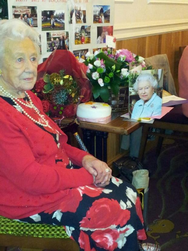 Wharfedale Observer: Mary Aivison with her card from the Queen
