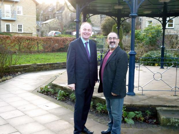 Labour's John Grogan, left, with Nader Fekri