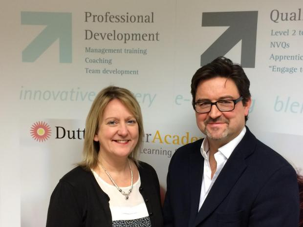 Dutton Fisher directors Jo Fisher and Paul Dutton