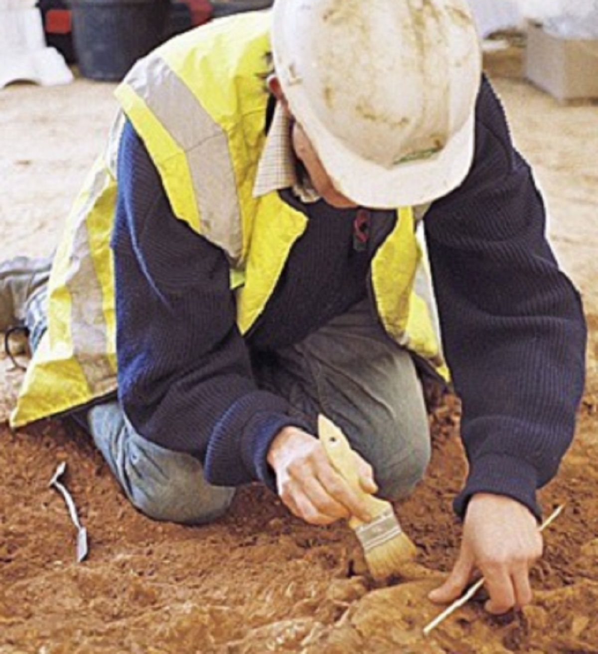 Archaeological dig at Castle Hill
