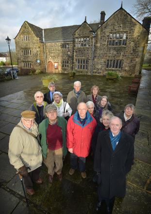 Friends of the Manor House outside the museum yesterday to launch the campaign to save it from closure