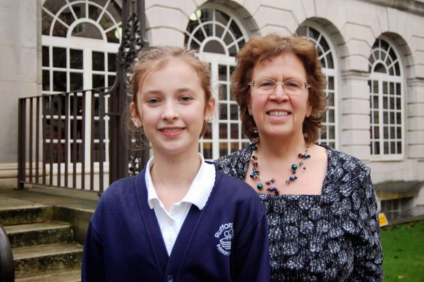 Wharfedale Observer: Children's Mayor Charlotte Williams with councillor Judith Blake