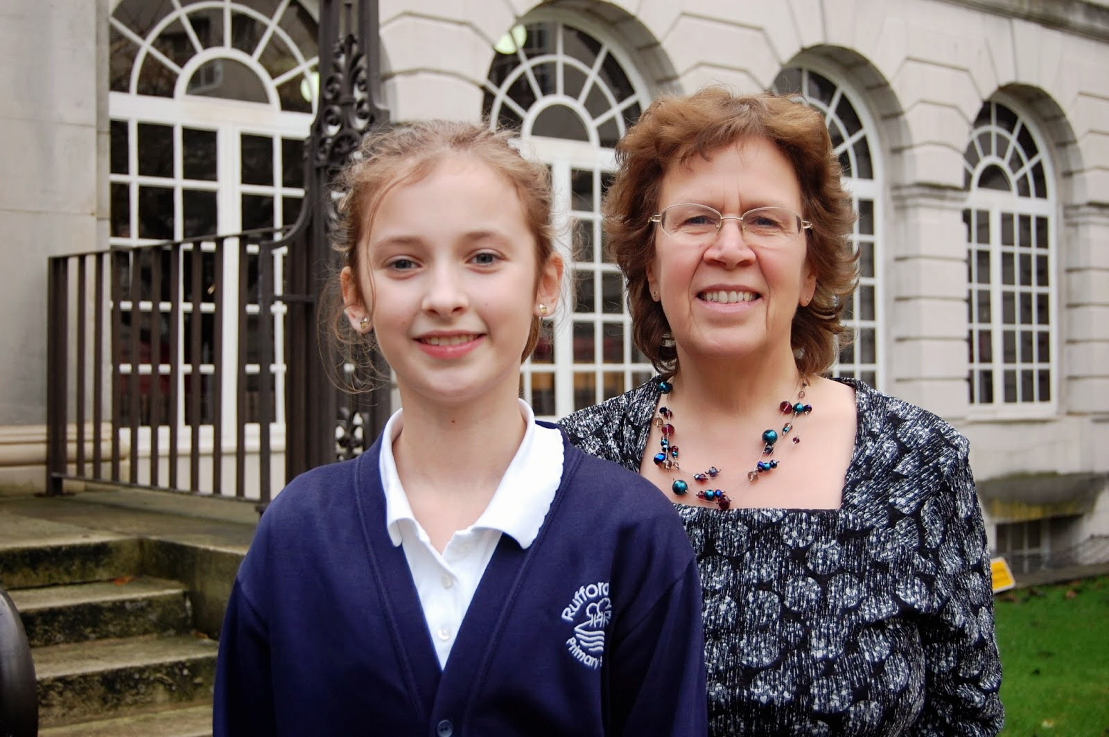 Children's Mayor Charlotte Williams with councillor Judith Blake