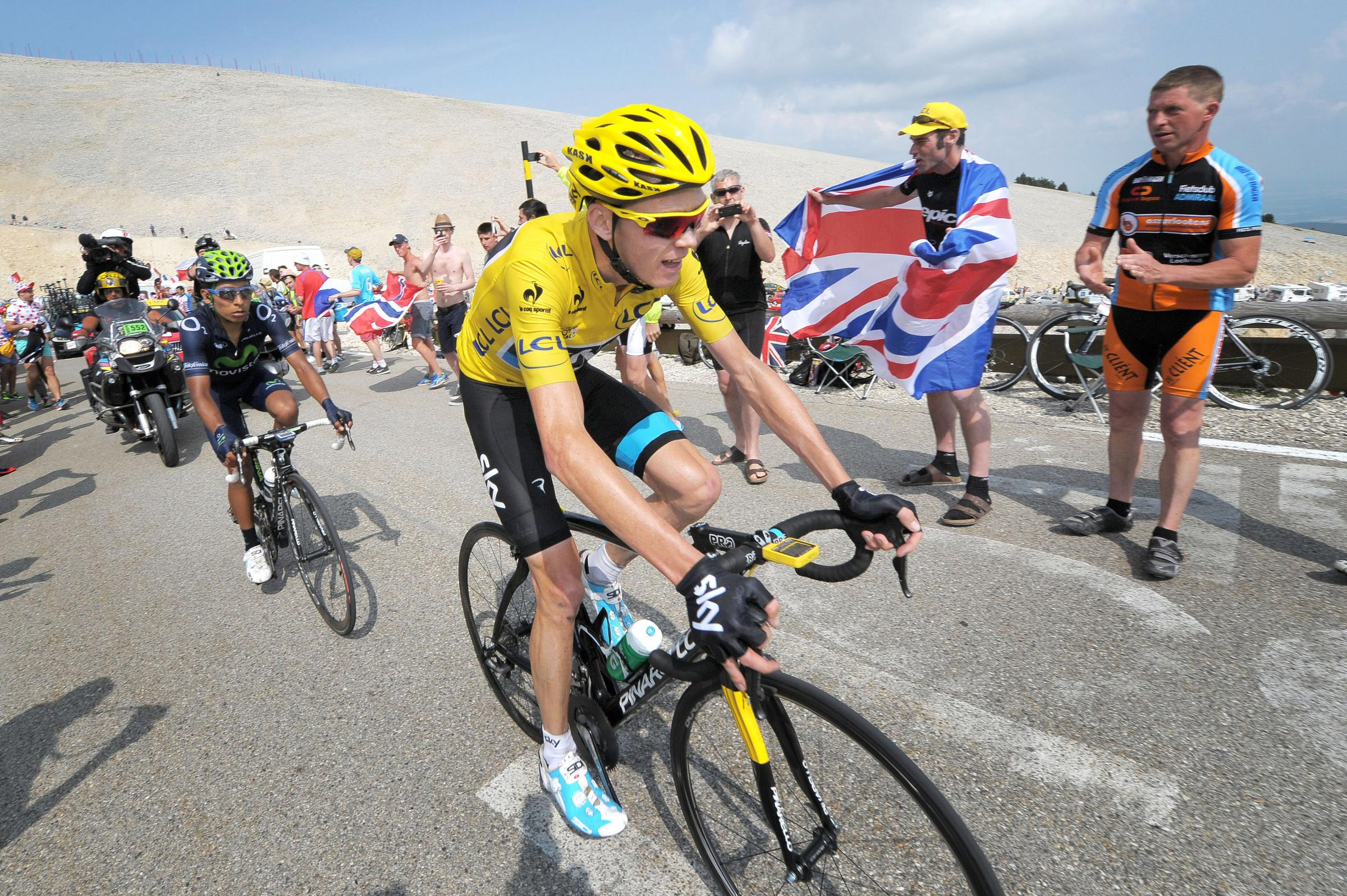 Chris Froome in last year's Tour de France