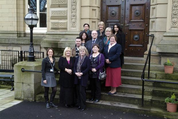 Staff from Shipley College who will be involved with the project