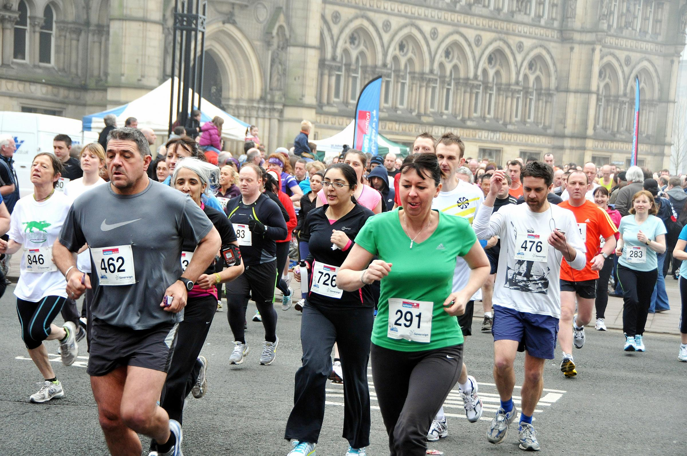 Runners taking part in a previous Epilepsy Action 10k