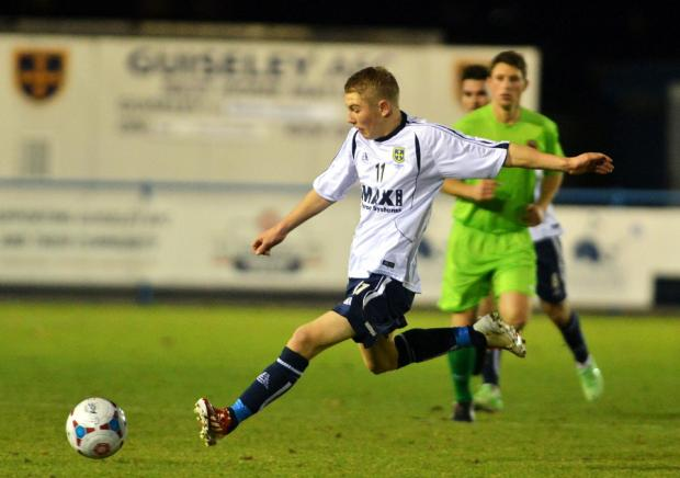 Ben Whitfield in action for Guiseley