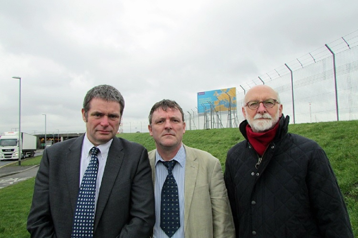 Councillors Sandy Lay, Ryk Downes and Colin Campbell at Leeds Bradford Airport