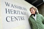 Former chairman of the management project group Ann Johnson ay Washburn Heritage Centre