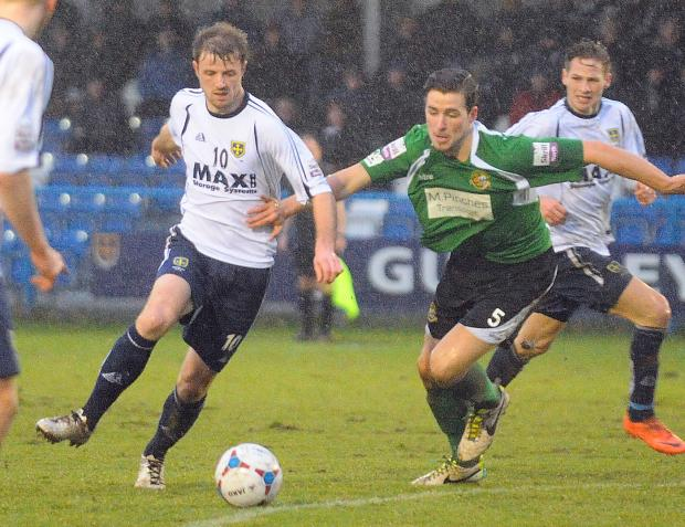 Wharfedale Observer: Adam Boyes making his home debut for Guiseley