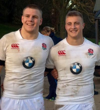Paul Hill, left, and Jack Walker, who are both on England duty this weekend