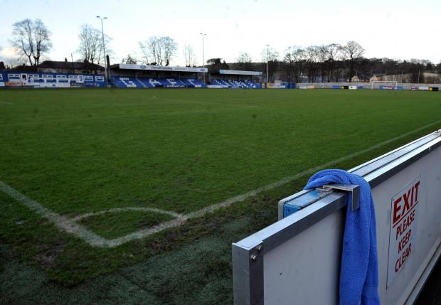 Wharfedale Observer: The pitch at Guiseley Football Club