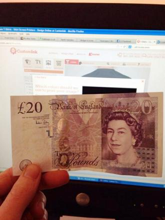 This counterfeit £20 note was used at The Old Grammar School Gallery