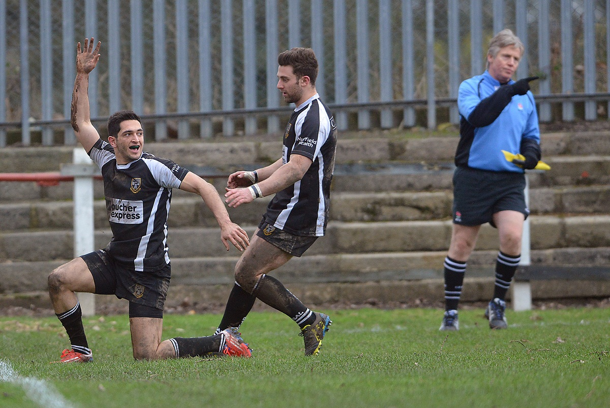 Nazir Karim scored Otley's try