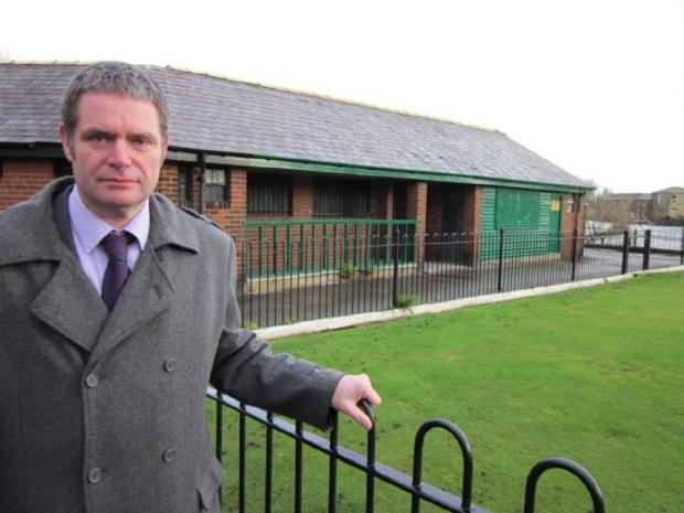 "Councillor Ryk Downes, pictured in Wharfemeadows Park, who appealed to residents to give suggestions as to what to do with the ""eyesore"" old swimming pool in the park"