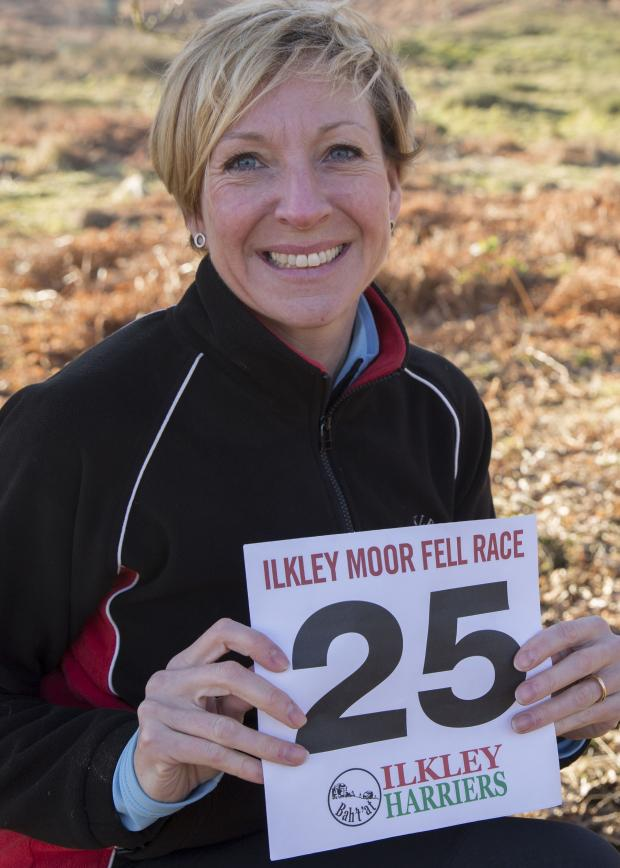 Wharfedale Observer: Celebrating 25 years of Ilkley Moor Fell Race: Chairman of Ilkley Harriers Jane Bryant. Picture by Anna Nolan