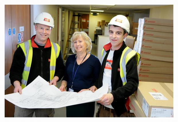 Wharfedale Observer: Ben Heggarty, site manager; Anne Crabtree, operational manager patholog