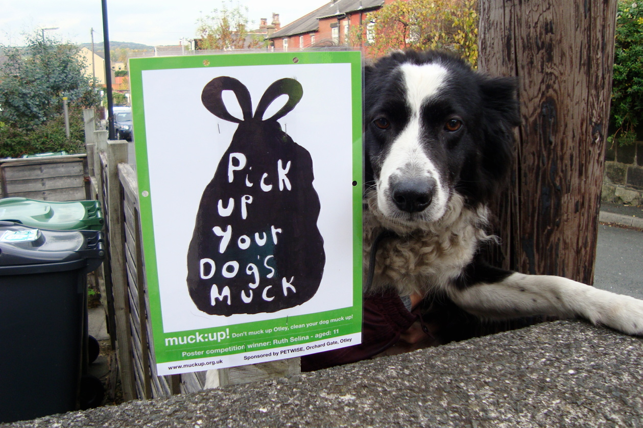Otley's muck: up! campaign has been relaunched to tackle the growing problem of dog fouling in the town