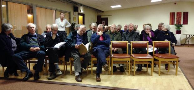 The meeting in Addingham to discuss Bradford's Core Strategy