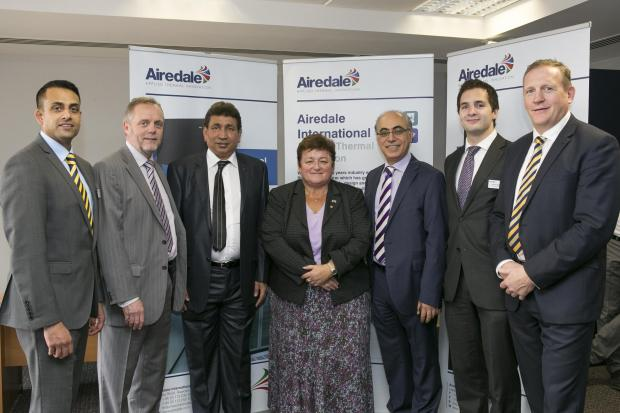 From left, Asim Ansari, Clive Parkman, Sanaullah Abdul Rahman, Karen Williams, Imad Moghrabi, Al Mazroui, Andrew Walker and Mark Viner