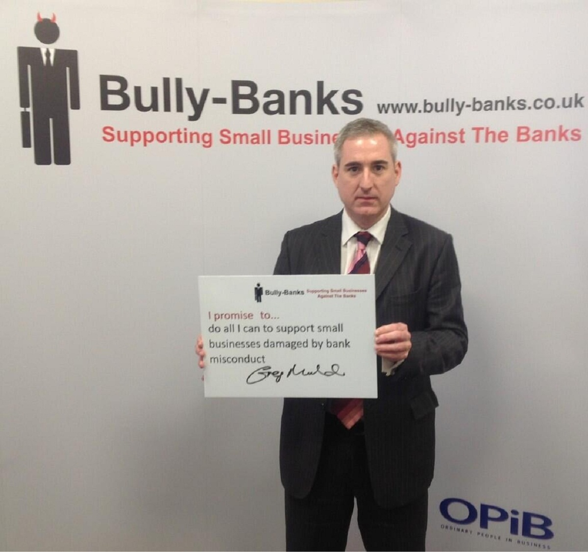 Greg Mulholland MP, who has backed the Bully Bank's campaign