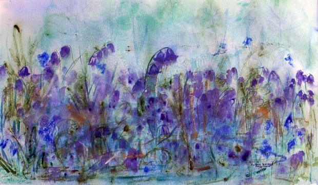 One of the watercolour paintings by Suzan Bridge that forms part of her exhibition currently being shown at The Art Shop