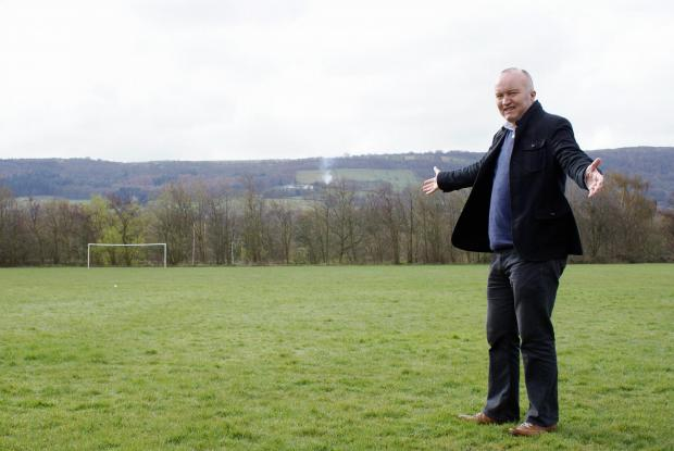 Tony Walker, who with his committee is aiming to transform these playing fields in Otley into an Olympic legacy sporting centre of excellence