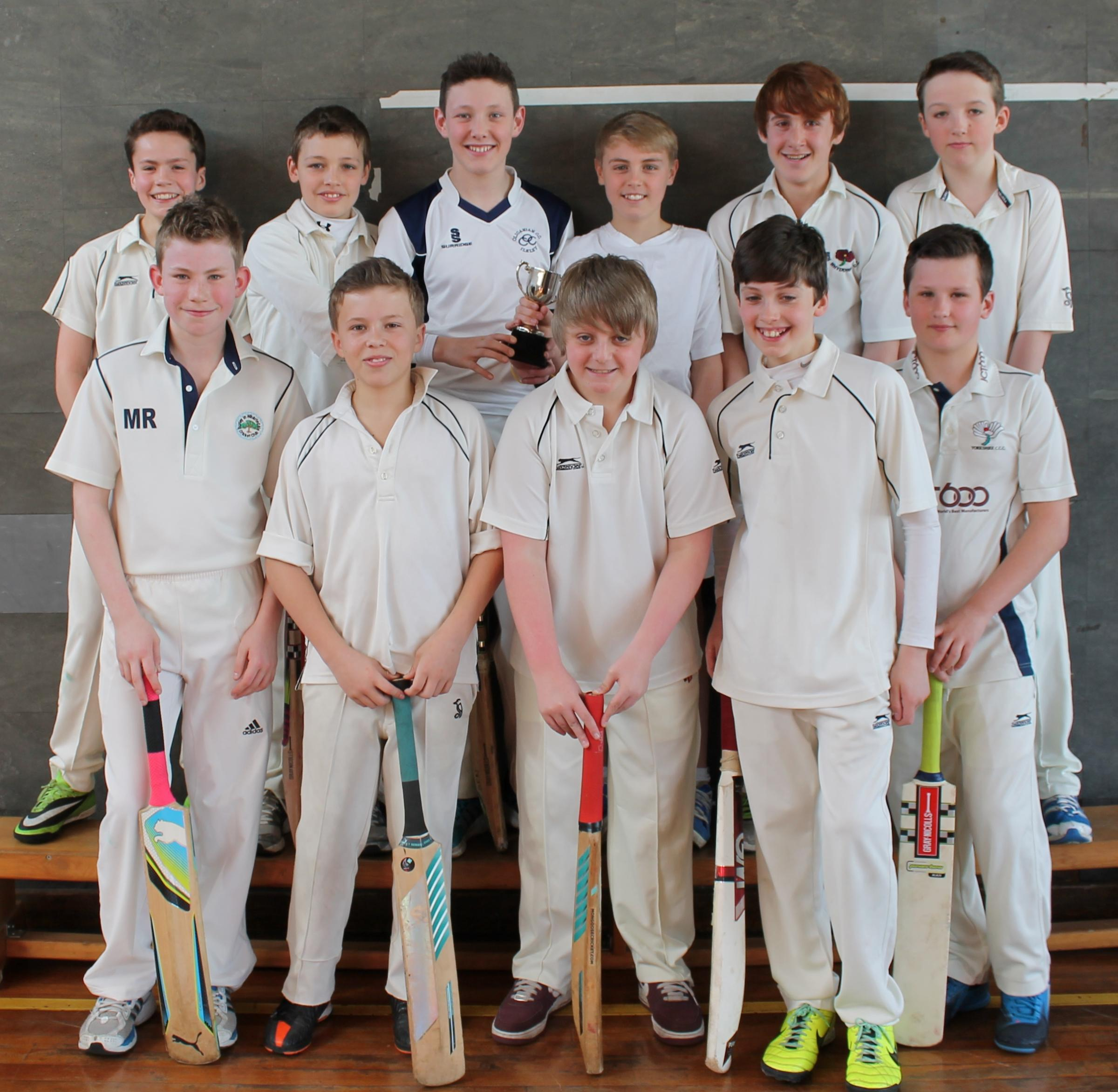Top row, left to right, Joe Haigh, Oliver Burton, Ben Patchett (Capt), James Sil-son, Sam McKinnon Evans and Daniel Rowe. Bottom row, left to right Matthew Revis, Harvey Sykes, Fraser Farmery, Matthew Spencer and James Hudson