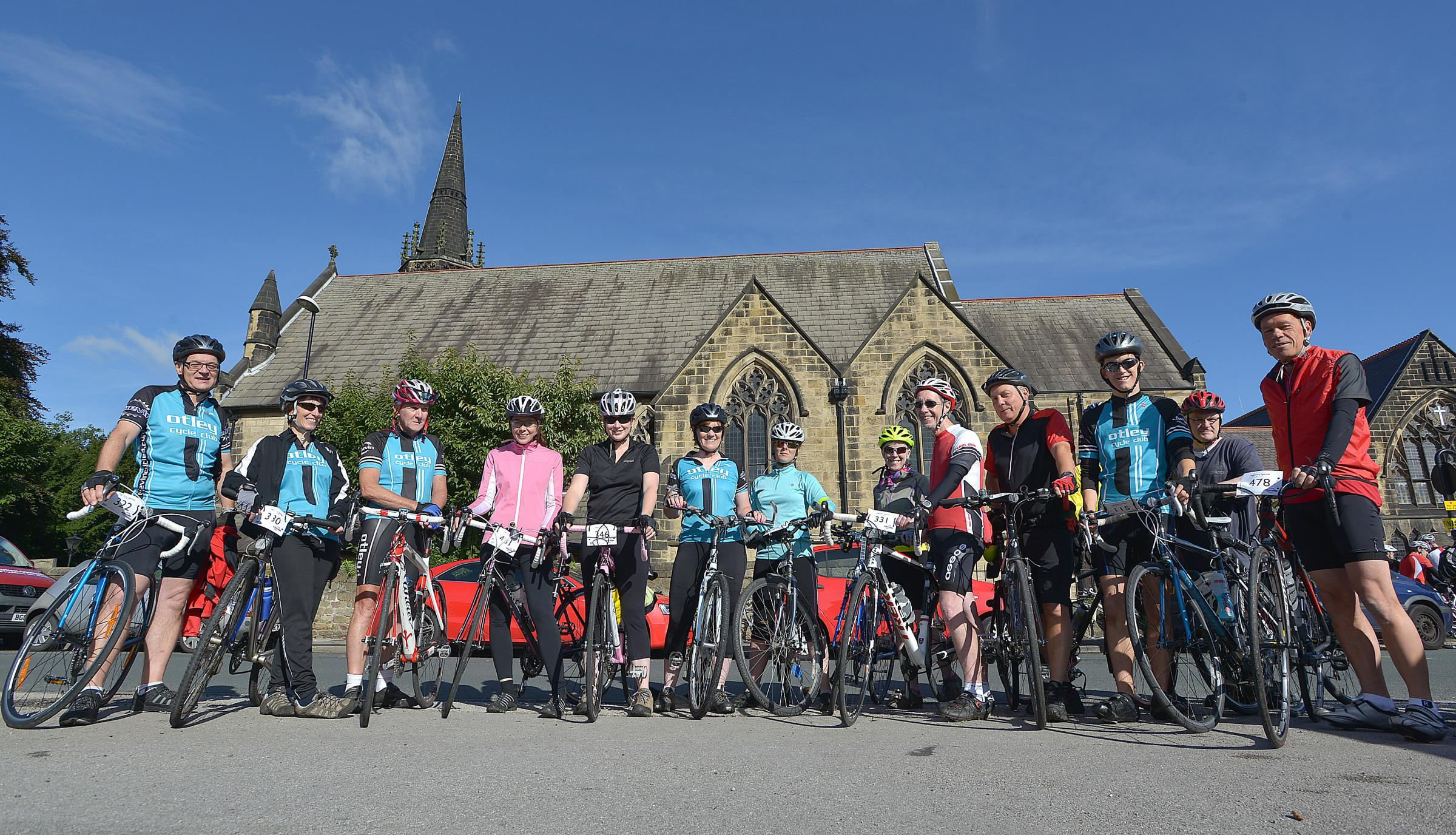 Members of Otley Cycling Club line up before the start of last year's sportive ride