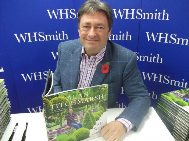 Ilkley-born Alan Titchmarsh, who will be designing a garden at this year's RHS Chelsea Flower Show